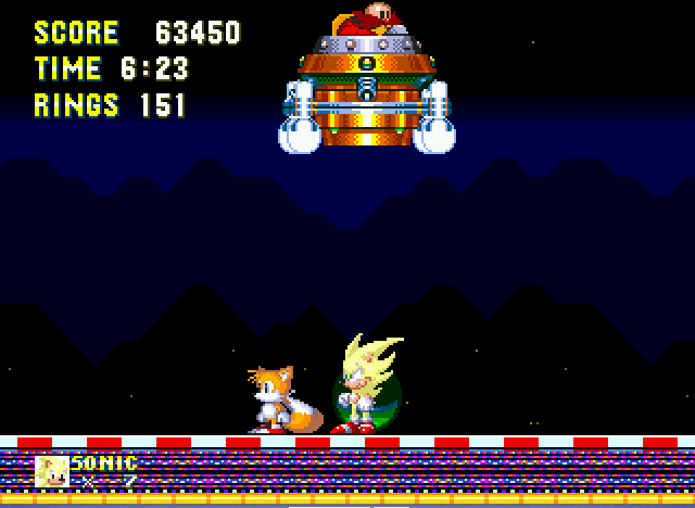 Sonic the Hedgehog 3 - super sonic is automaticaly invincible - User Screenshot